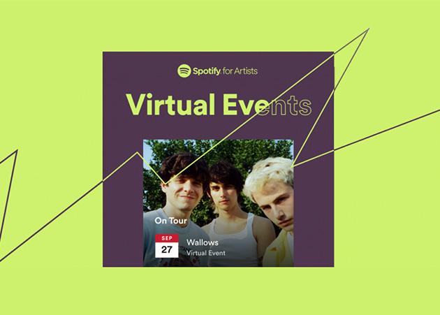 Agora você pode listar eventos virtuais no Spotify